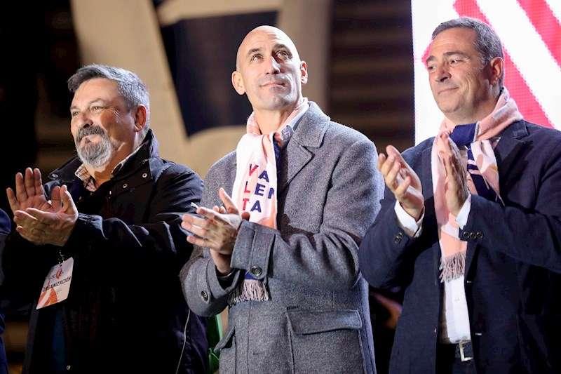 Luis Rubiales, Presidente de la Real Federación Española de Fútbol, durante el acto de
