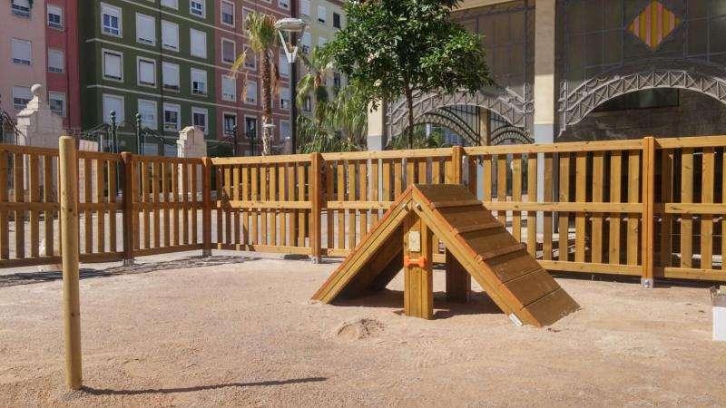 Imagen cedida por el Ayuntamiento de València del área de socialización canina de Abastos. EFE