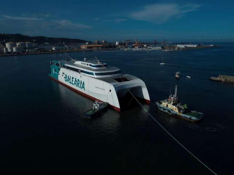 El innovador y ecoeficiente fast ferry de Baleària