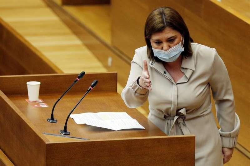 La presidenta del Partido Popular, Isabel Bonig. EFE/Manuel Bruque/Archivo