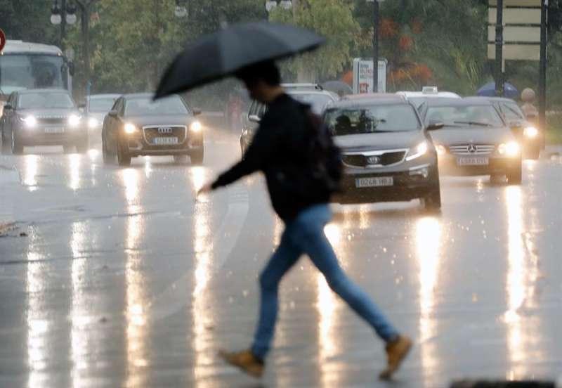 Imagen de archivo de lluvias intensas en la Comunitat Valenciana