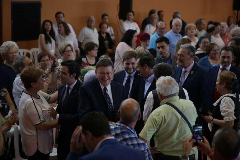 El president de la Generalitat, Ximo Puig, en la celebración. EPDA