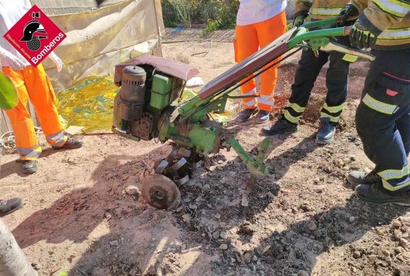 La mula mecánica, en una imagen del Consorcio de Bomberos de Alicante. EPDA
