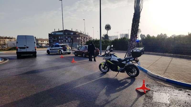 Control policial a Canet d