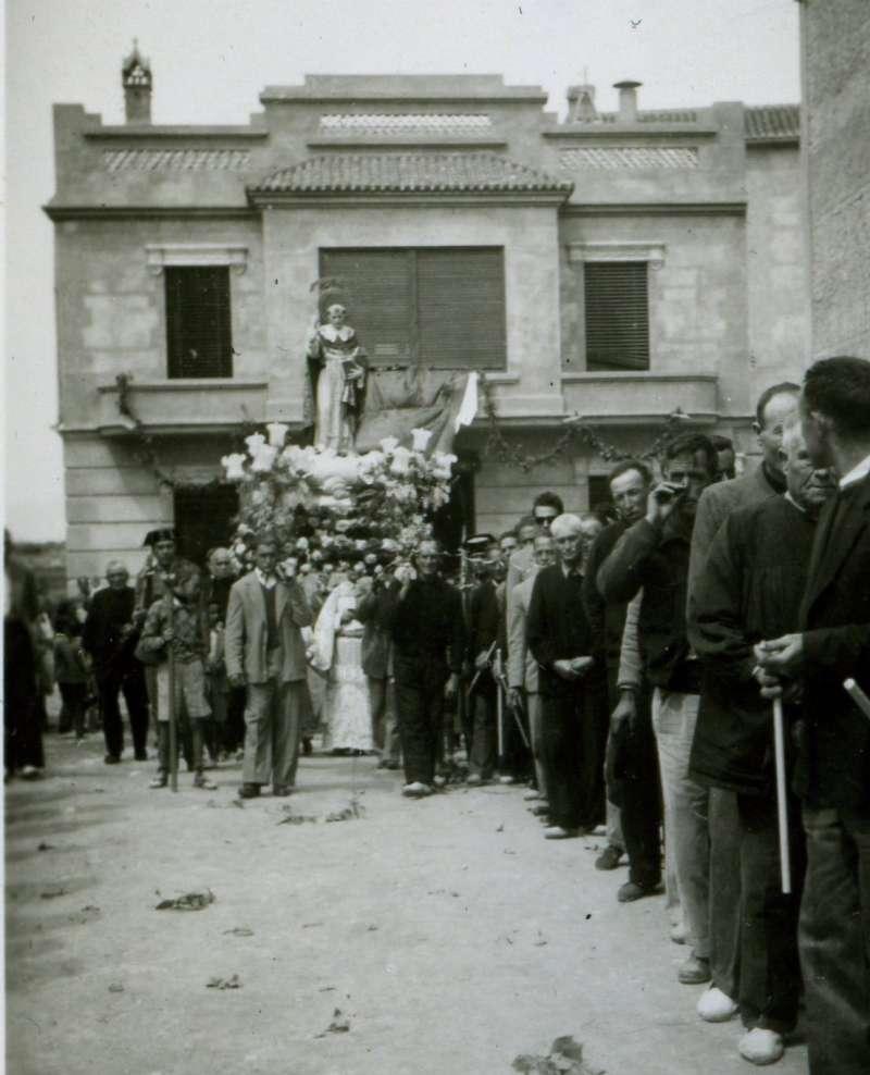La imagen fue donada el 21 de abril de 1952