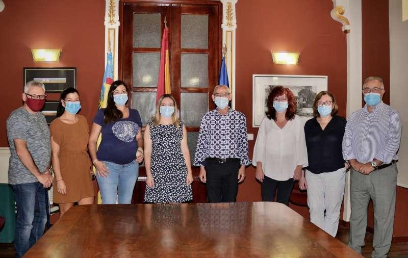 Recepción de las trabajadoras en el Ayuntamiento de Alboraya. EPDA