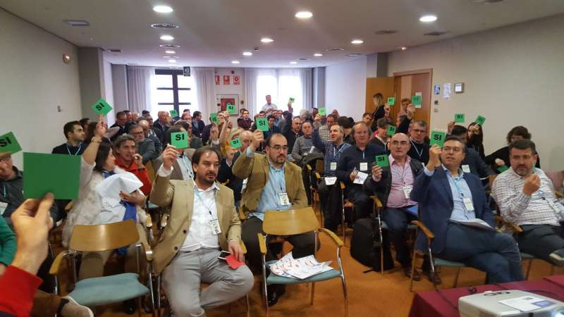 Asistentes al segundo Congreso de Soms Valencians. EPDA