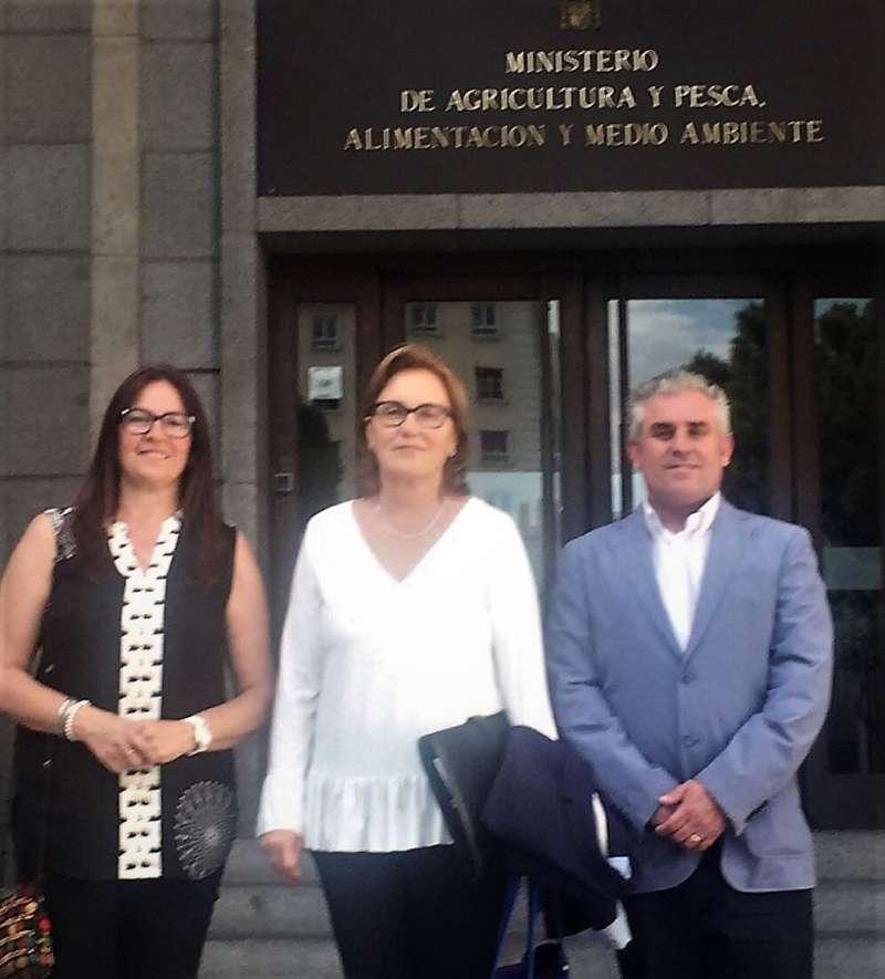 La alcaldesa y los concejales de Borriana en su visita a Madrid.