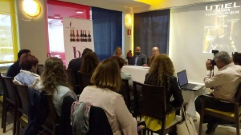 Presentación del evento de Utiel en la ciudad de València. EPDA