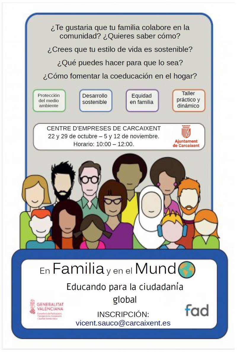 Cartel curso FAD./ Ajuntament Carcaixent