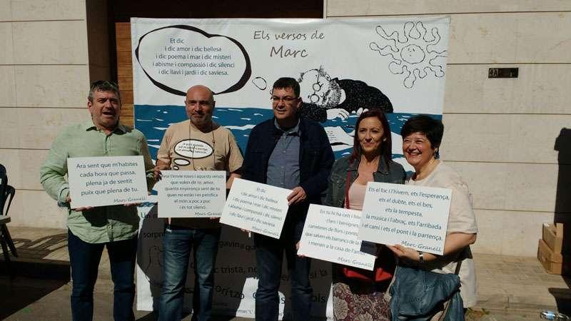 Josep Bort, Xavier Rius, Enric Morera, Maria Josep Amigó i Imma Cerdà al photocall de la Diputació de València