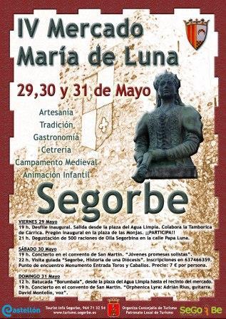 Cartel IV Mercado María de Luna.