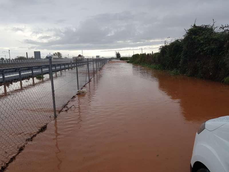 Imagen de la zona inundada. FOTO ARCHIVO
