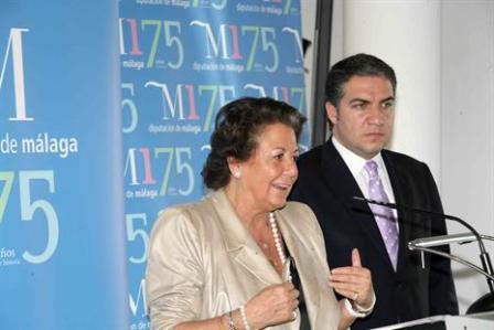 La Alcaldesa de Valencia Rita Barberá en su intervención en la Diputación de Málaga. Foto ritabarbera.com