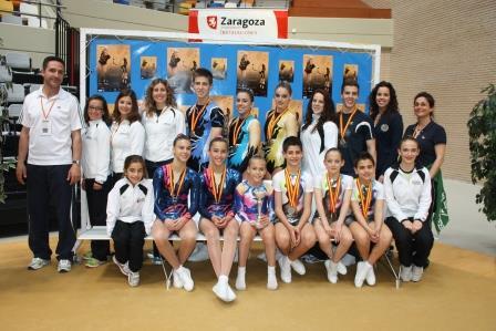 El club moncadense logró alzar 6 medallas de oro, 5 de plata y 1 de bronce en manos de sus 16 gimnastas ante el alto nivel del resto de participantes. Foto: EPDA.