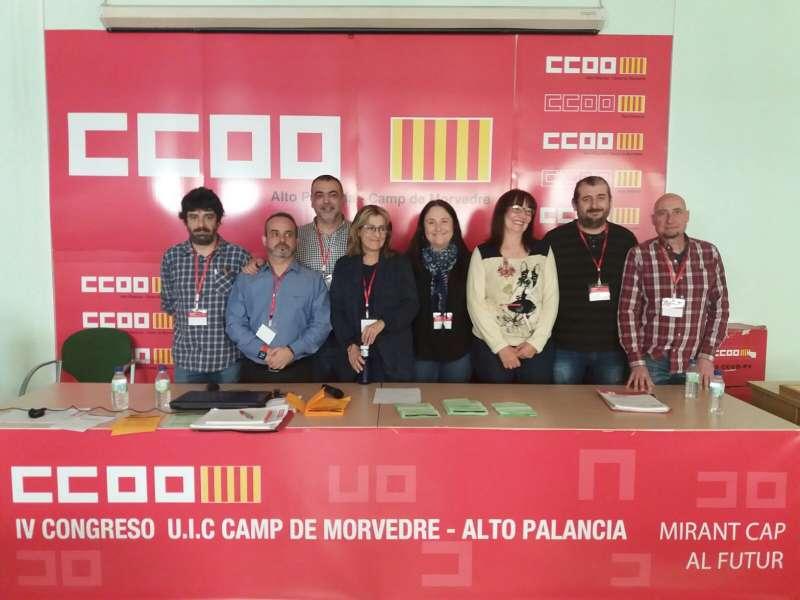 Begoña Cortijo con los miembros de la comisión ejecutiva. EPDA