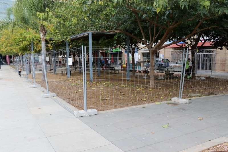 Obras en la Plaza de la Unión Musical