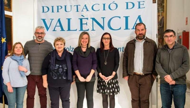 Amigó y Berenguer, en la reunión en Paterna. EPDA