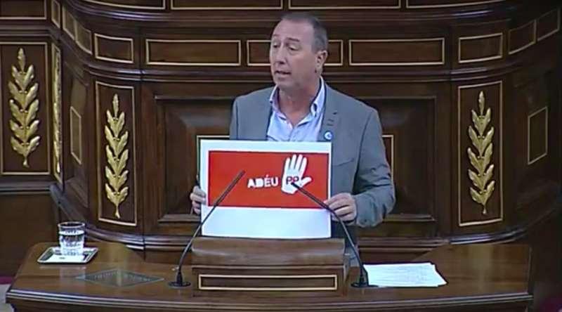 El portaveu de Compromís al Congrés dels Diputats, Joan Baldoví