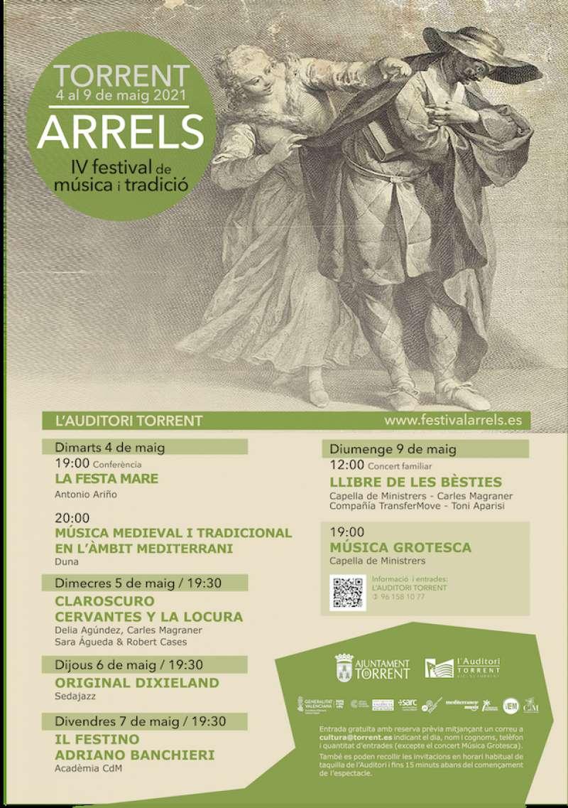 Cartel del IV festival de música y tradición Arrels.