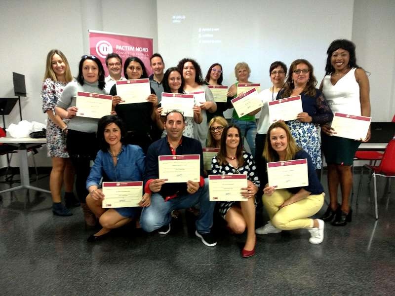 Participantes en el curso de Pactem Nord. EPDA