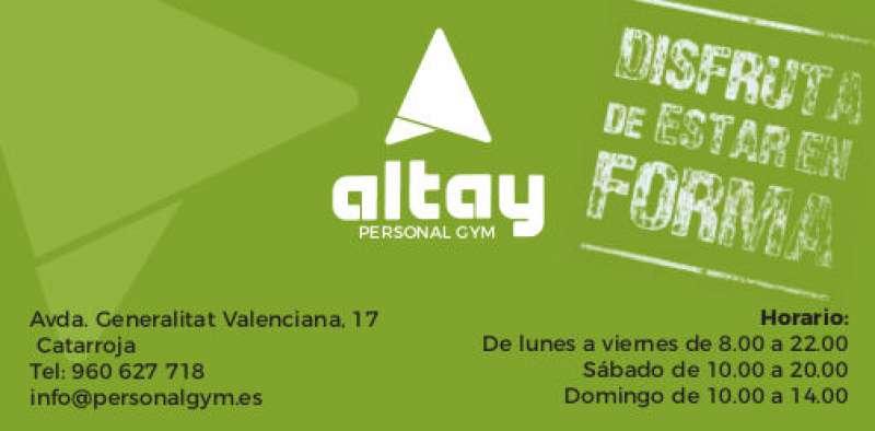 Altay Personal Gym de Catarroja es un centro deportivo y social. EPDA