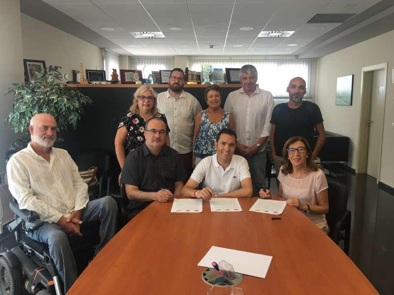 Los siete concejales del equipo de gobierno. EPDA