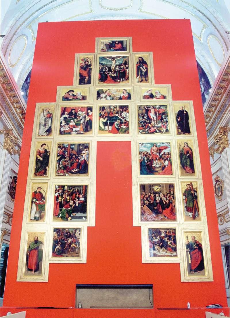 Retablo mayor de la Catedral de Segorbe de Vicente Masip
