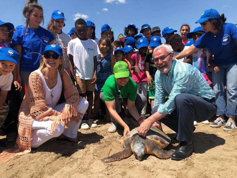 Suelta de tortugas en Alboraya. EPDA