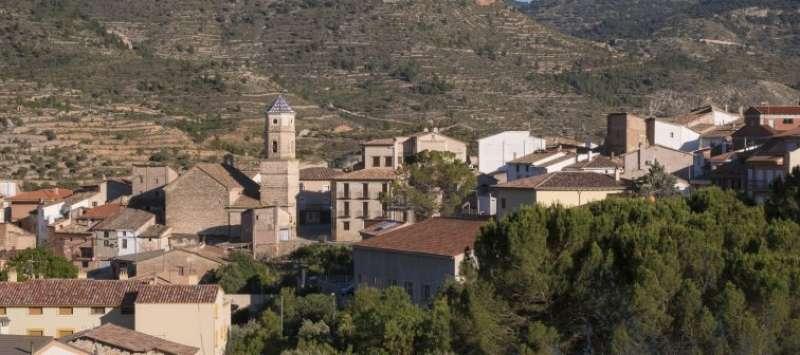 Localidad de Casas Altas en el Rincón de Ademuz. EPDA