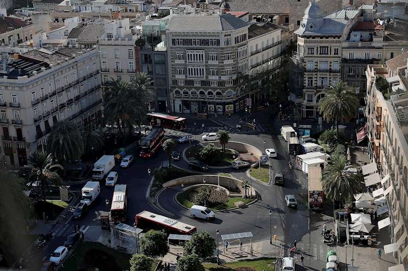Figuración de cómo quedará la nueva Plaza de la Reina, facilitada por el Ayuntamiento. EFE