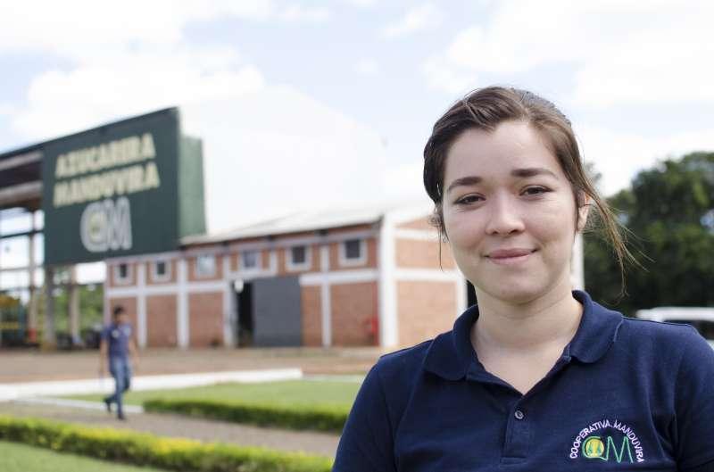 Laura López en la cooperativa Manduvirá de Paraguay. EPDA