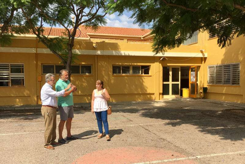 El alcalde de Albal visita los colegios del municipio. EPDA