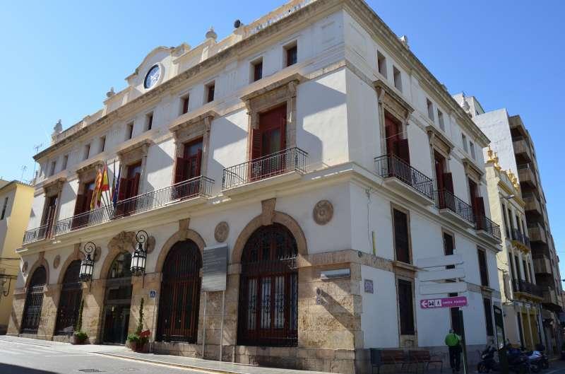 Fachada ayuntamiento de Sagunto -EPDA