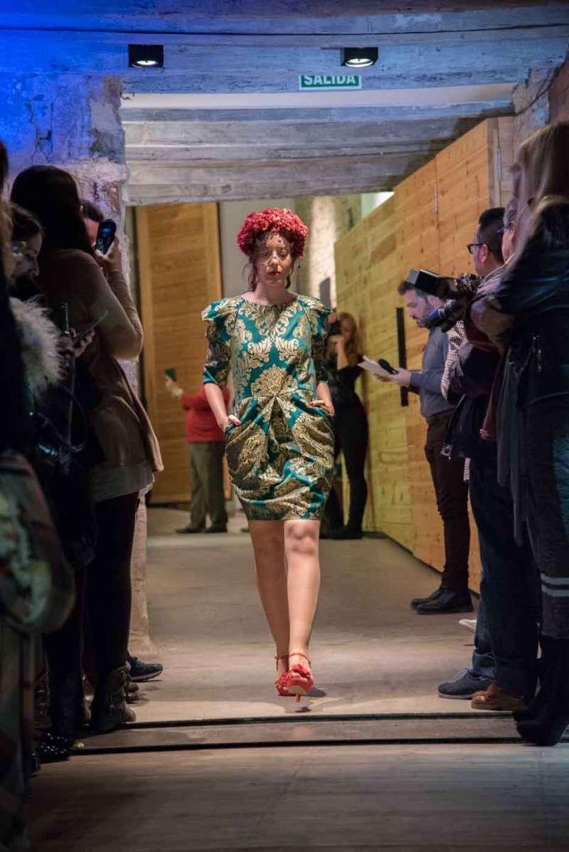Una de las modelos que desfiló en la presentación de Moda Nova Events.//EPDA