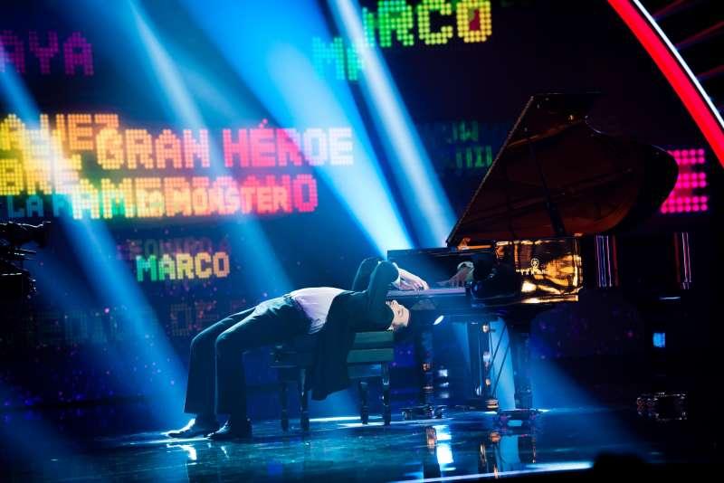 Alberto de Paz en una actuación de Got Talent.
