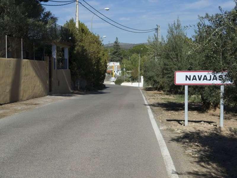 Acceso a Navajas antes de iniciarse las obras
