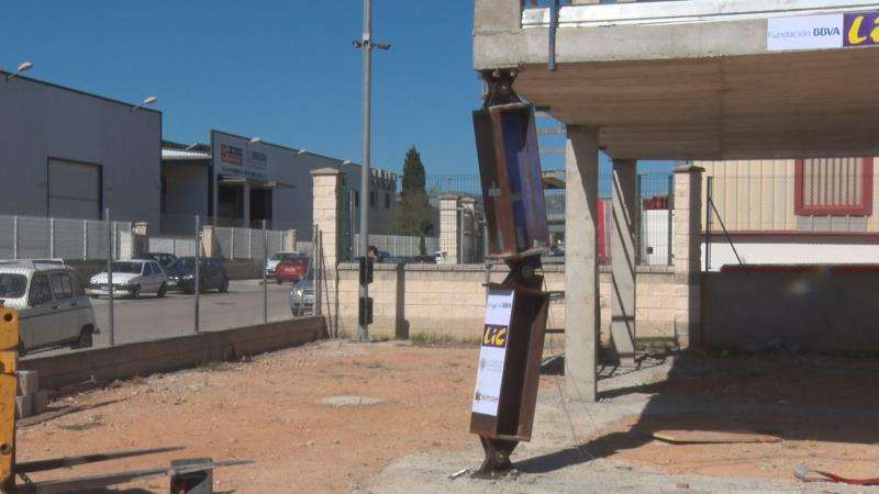 Una imagen del edificio sometido a pruebas, facilitada por la UPV. EFE