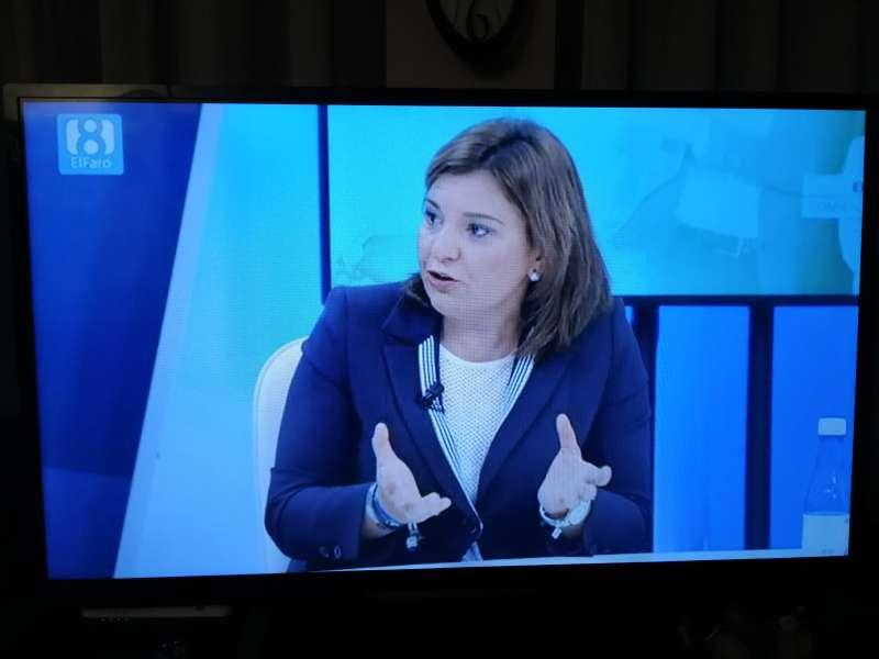 Isabel Bonig anoche en La Ocho TV. EPDA