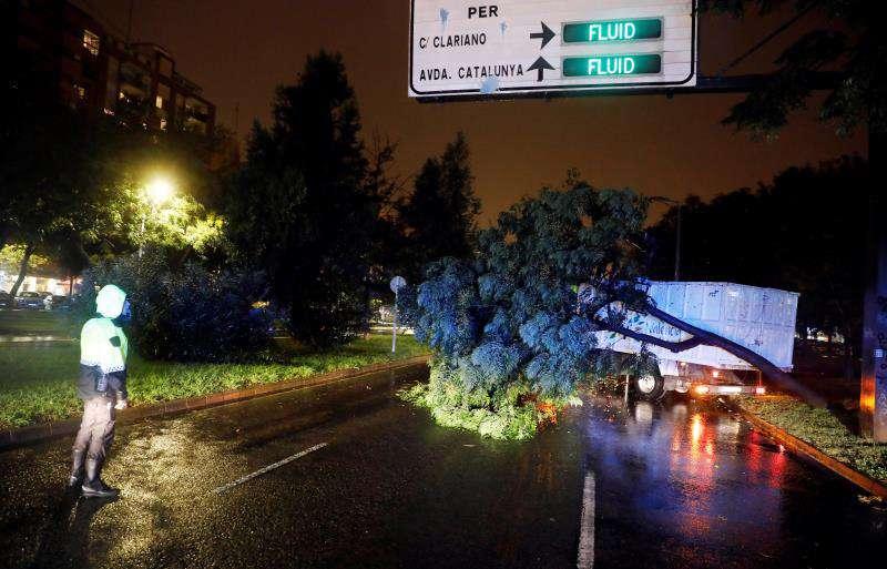 La provincia de Castellón se encuentra en alerta roja por fuertes lluvias