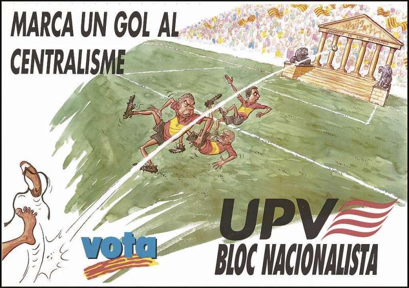 Cartell per a la campanya de les eleccions de 1996 de la UPV. / El Gat Invisible (Salvador llosà)