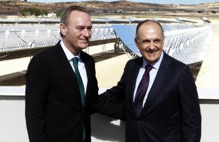 Inauguración de la primera planta solar termoeléctrica en la Comunitat Valenciana.