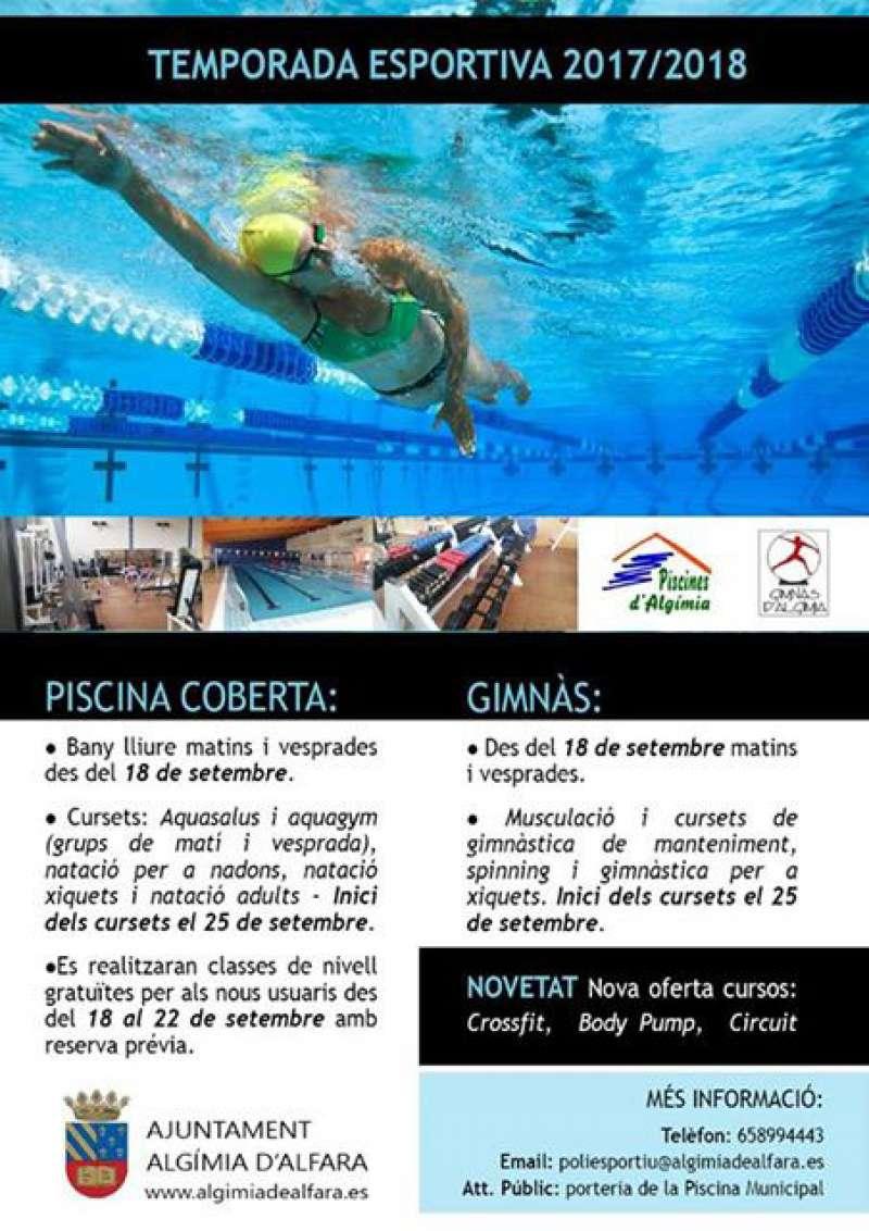 Imagen del cartel de la piscina