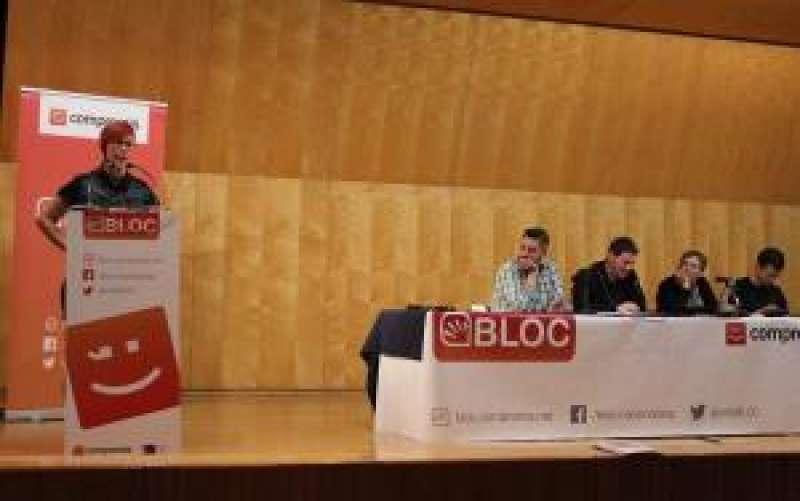La secretaria general del BLOC y coportavoz de Compromís, Àgueda Micó, interviene en el Consell Nacional del Bloc. EFE