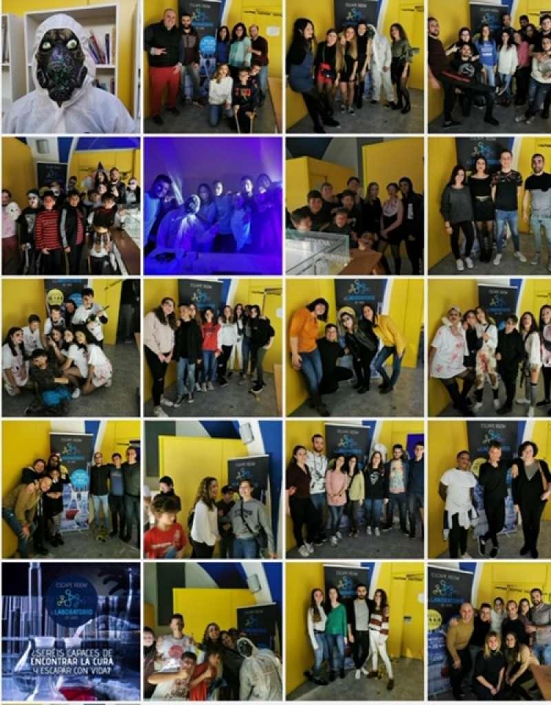 Imágenes del Escape Room en Requena. EPDA
