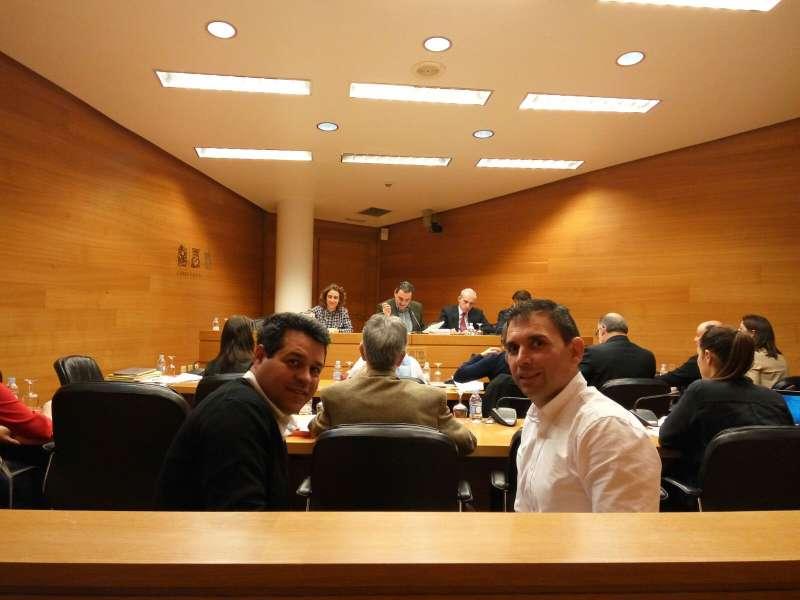 Ropero y Martínez en Les Corts. //EPDA