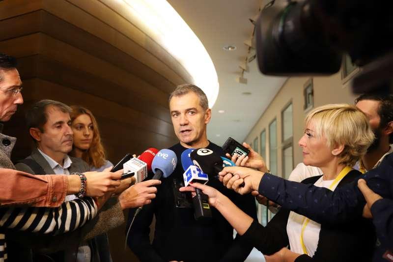 Toni Cantó, síndic de Ciudadanos presentando declaraciones a la prensa. -EPDA