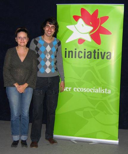 David Sánchez Salas con Mónica Oltra. FOTO EPDA