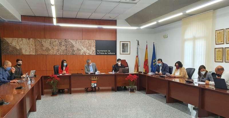 Junta de Gobierno en el Ayuntamiento de La Pobla de Vallbona. / EPDA