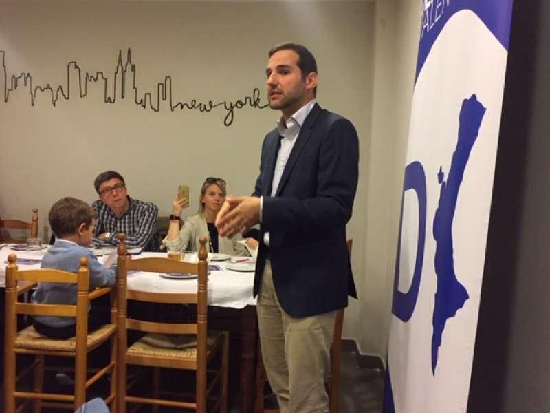 Albert Sarrió, cap de llista municipal per al Cap i Casal, presenta el decàleg de prioritats de Demòcrates Valencians